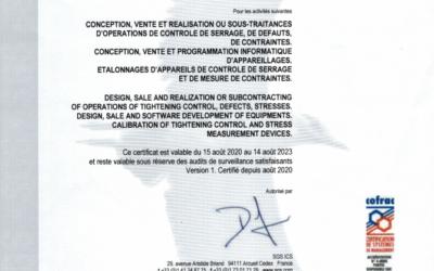 Obtention de la certification ISO 9001